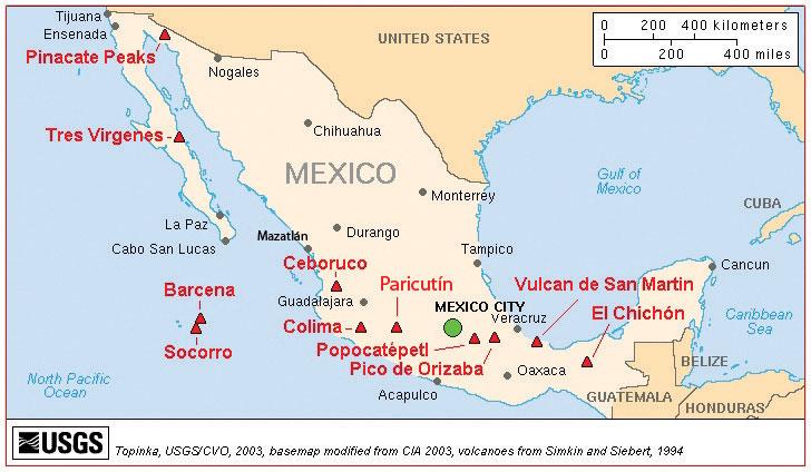 Volcanoes In Mexico