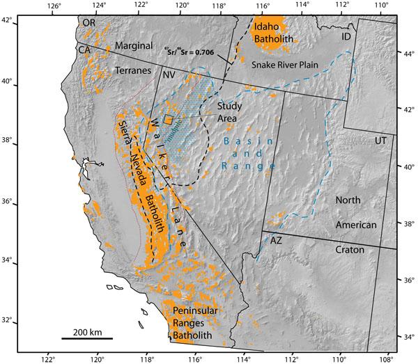 Sierra Nevada Maps: Map Of America Nevada At Usa Maps