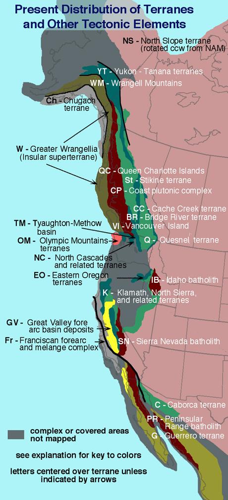 Western North America Map.Mesozoic Paleogeography And Tectonic History Western North America