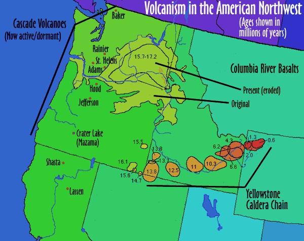 yellowstone national park map volcano